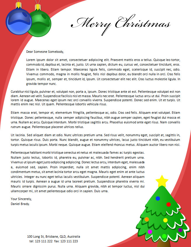 christmas-letterhead-2 Sample Christmas Letter Templates on for kids, business proposal, employment termination, campaign fundraising, donation request, university petition, character reference, employee termination, professional cover, company introduction, resume cover,