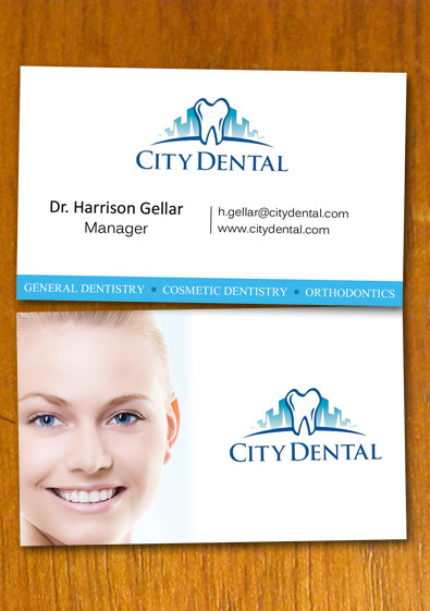 Free sample dentist and dental business card template flashek