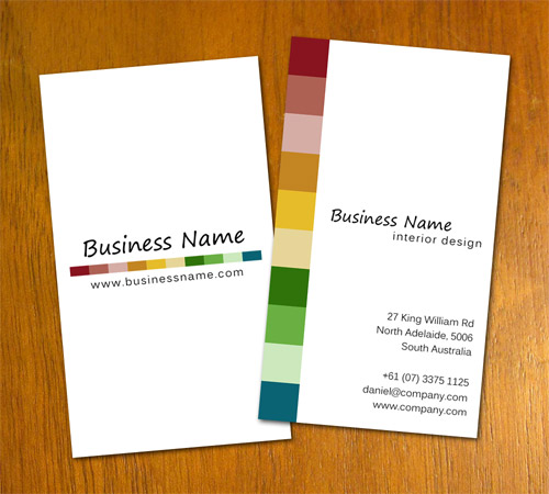 Free Sample Interior Design Business Card Template