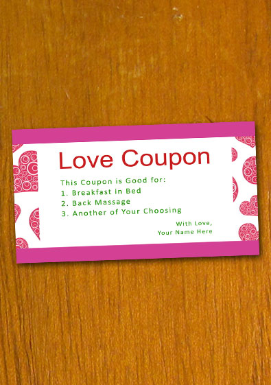 love coupon examples