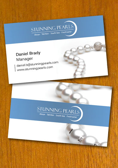 Free Sample Pearl Jewelry Business Card Template - Jewelry business card templates
