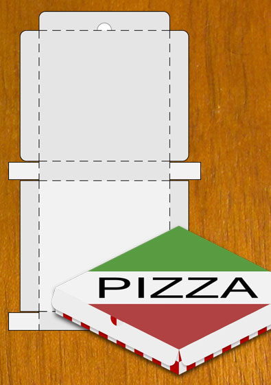 Free Sample Pizza Box Blank Template