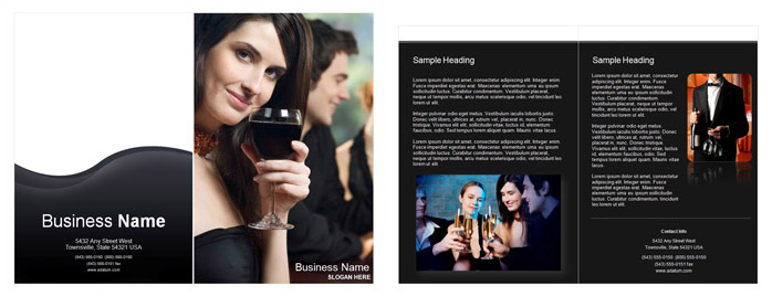 Restaurant Single Fold Brochure