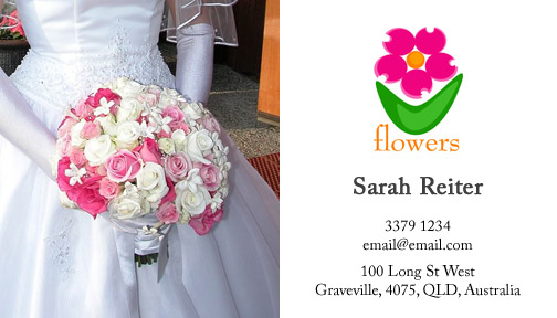 Wedding Florist Business Card