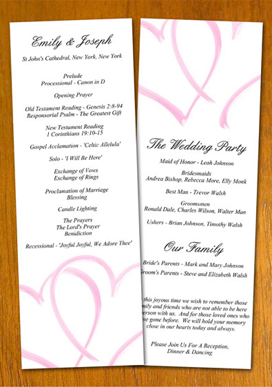 Free sample wedding program template for Free wedding program templates