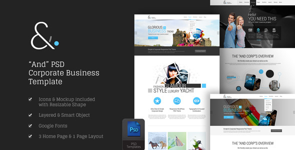 11 Mixed OnePage Muse and PSD Website Templates to Download