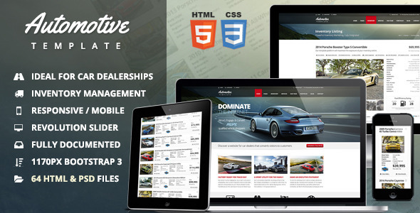 11 Auto Parts and Cars Website Templates to Download