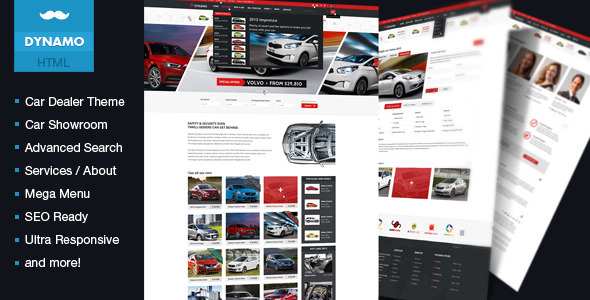 11 auto parts and cars website templates to download. Black Bedroom Furniture Sets. Home Design Ideas