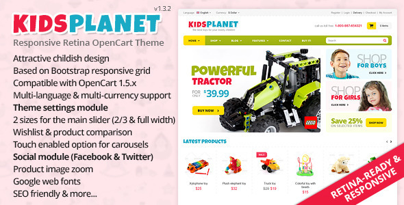 Kids Planet - Responsive