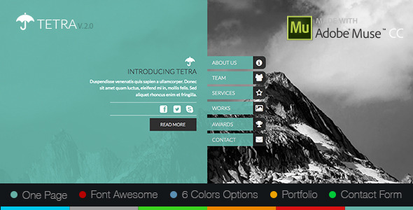 12 adobe muse templates to download for Adobe muse templates free